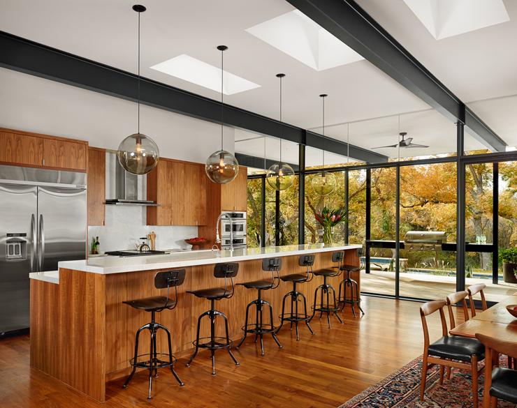 Magnifique maison moderne dans les environs d austin texas vivons maison - Les plus belles cuisines americaines ...
