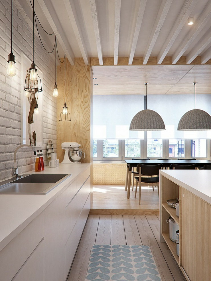 Appartement moderne aux faux airs d un loft vivons maison Scandinavian kitchen designs