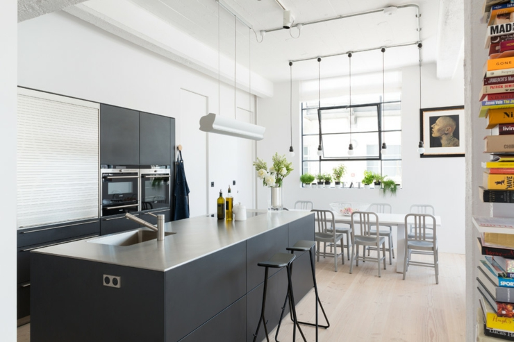 Loft design tr s lumineux au c ur de londres vivons maison for Modelos de cocinas modernas americanas
