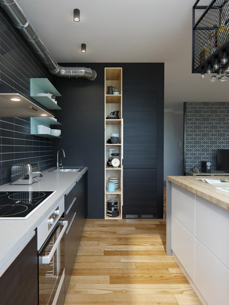 Int rieur design moderne pour un petit appartement minsk - Idee cuisine americaine appartement ...