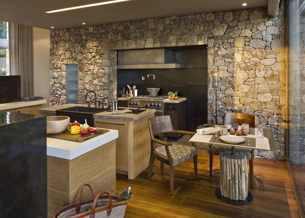 Idee peinture salon bleu for Cuisine design luxe