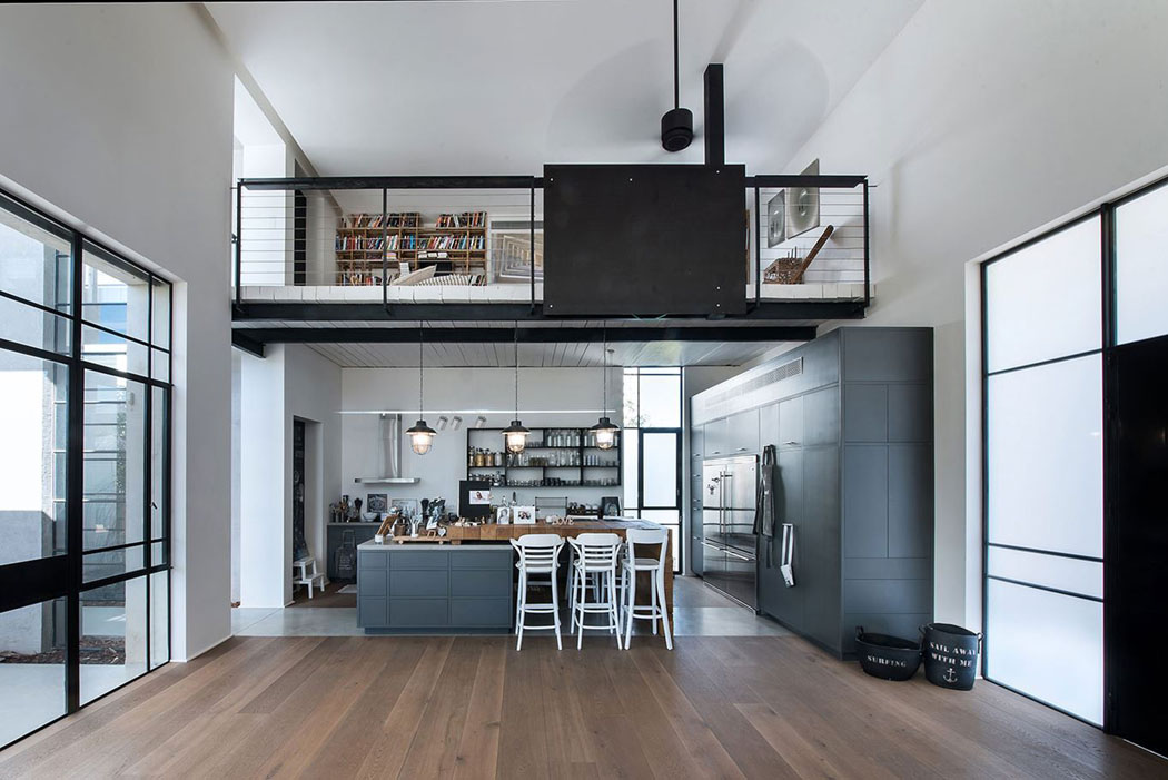 Belle maison contemporaine au design minimaliste for Cuisine ouverte loft