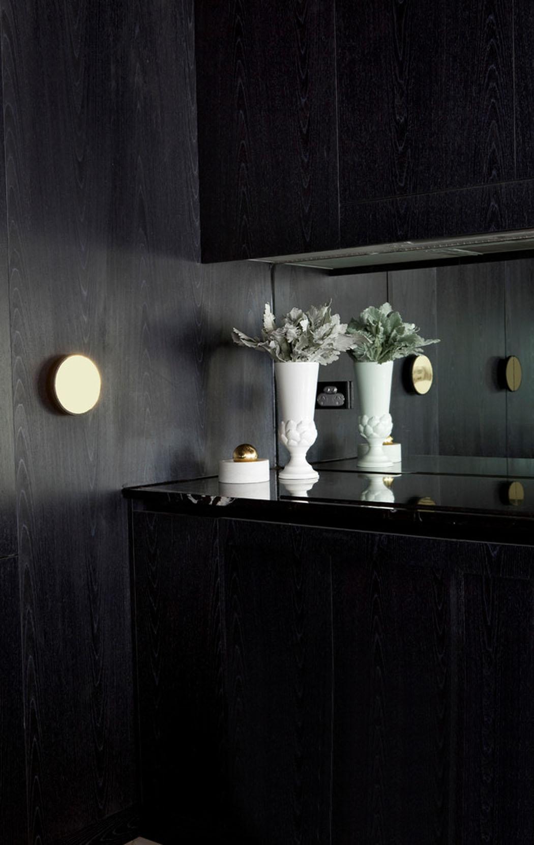 Bel appartement design à Brisbane à la déco élégante en noir ...