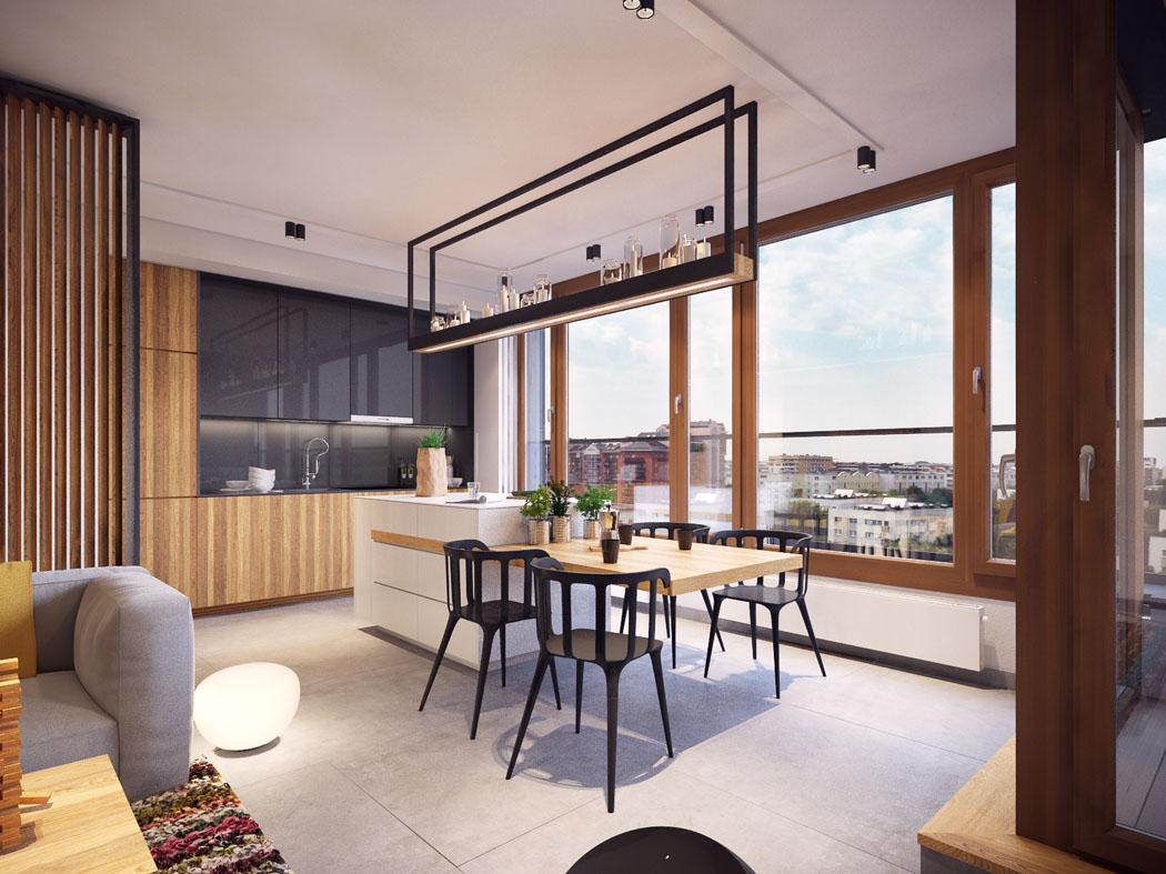 Appartement moderne au design minimaliste et chaleureux - Charmant appartement lumineux touches couleurs ...