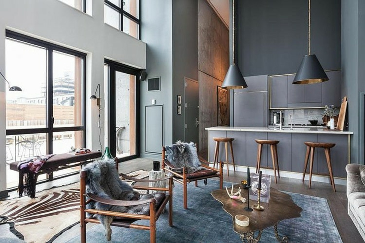 Bel appartement brooklyn au design clectique vivons for Interieur loft new york