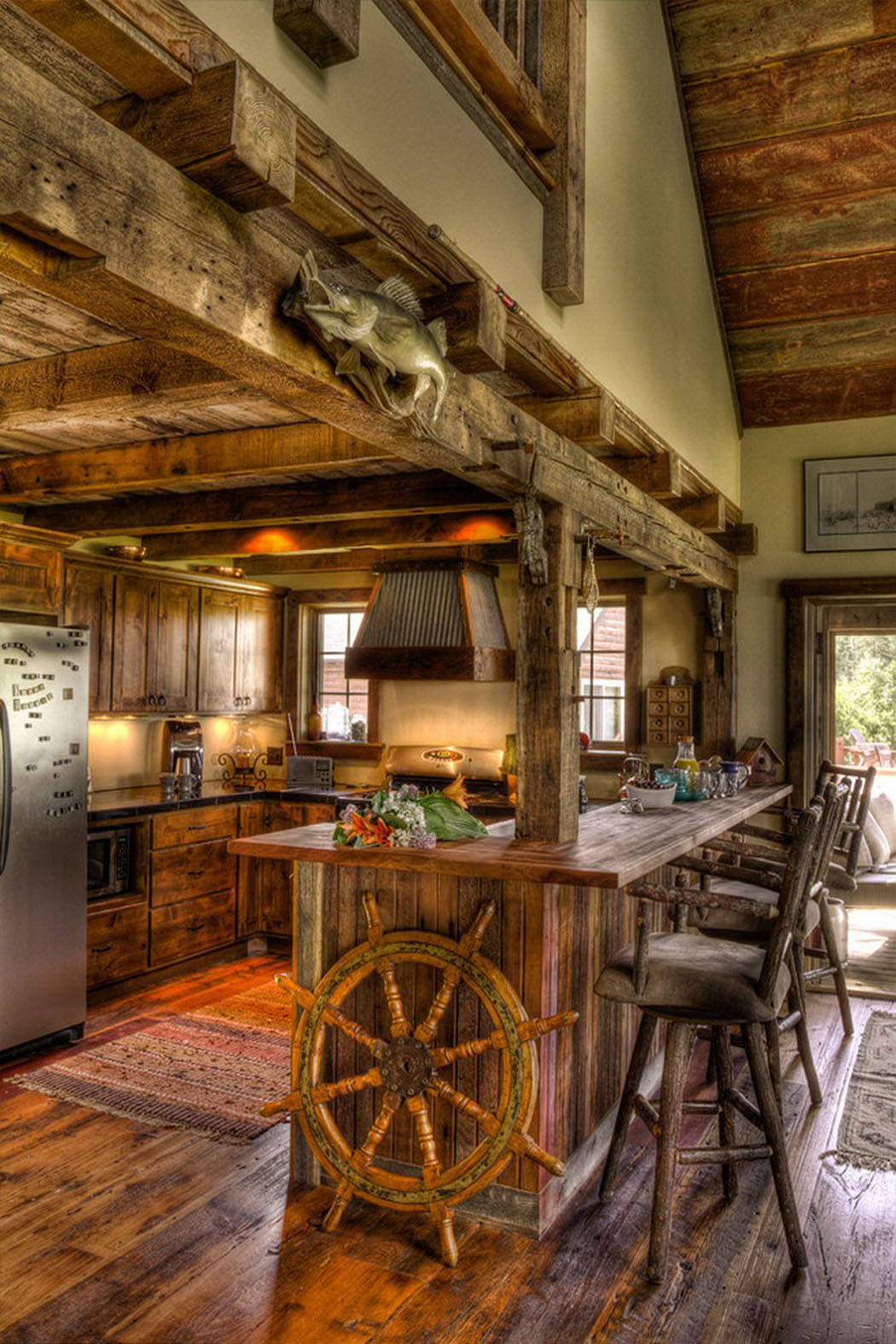 Vacances bucoliques avec cette maison de vacances rustique for Cuisine ouverte villa