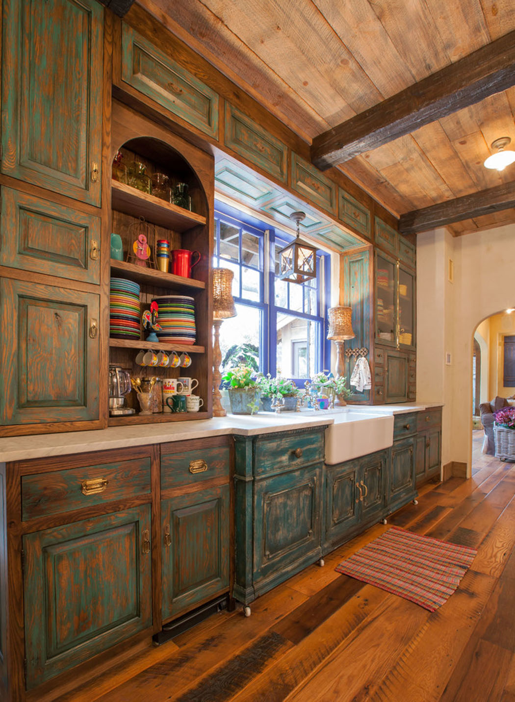 maison rustique l int rieur en bois et ambiance bien conviviale vivons maison. Black Bedroom Furniture Sets. Home Design Ideas