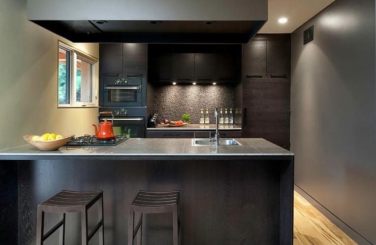 Interieur cuisine moderne photo idee deco cuisine grise for Interieur maison moderne cuisine