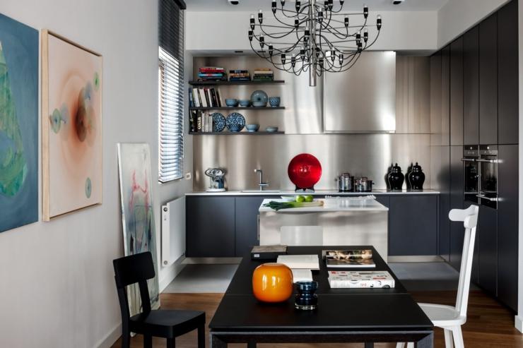 Appartement moderne l int rieur design en pologne for Salle a manger futuriste