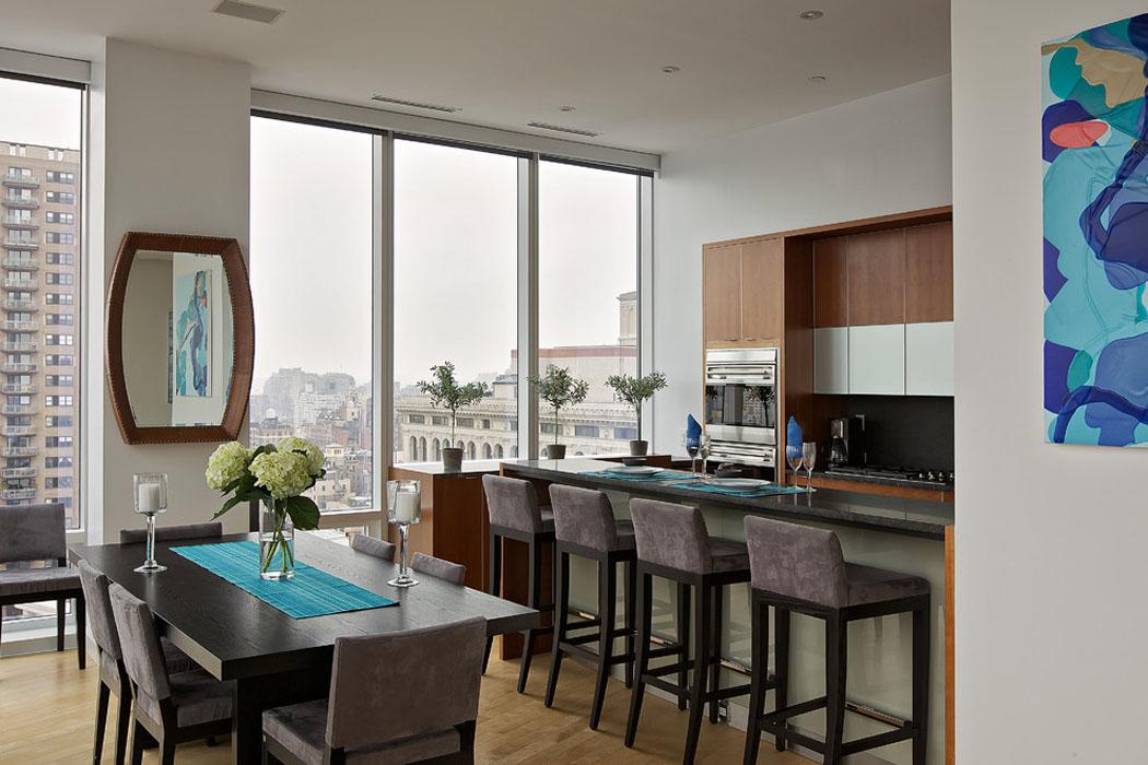 Bel appartement de standing avec vue imprenable sur manhattan vivons maison - Cuisine salle a manger ...