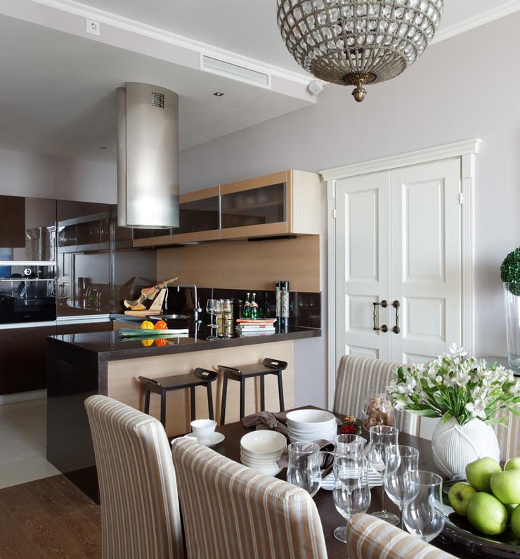 Bel appartement au design moderne et accueillant moscou for Decoration living appartement