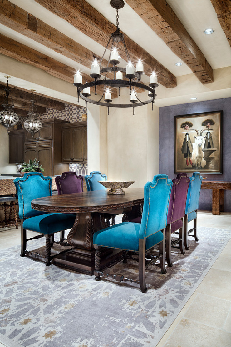 Maison de prestige texane la d co int rieure inspir e for Salle a manger de luxe design