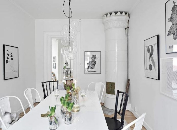 Appartement moderne au design scandinave vivons maison for Salle a manger classique moderne