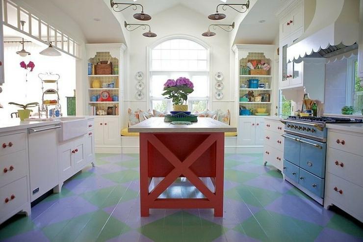 maison de vacances interieur retro eclectique nov - Cuisine Retro Annee 50