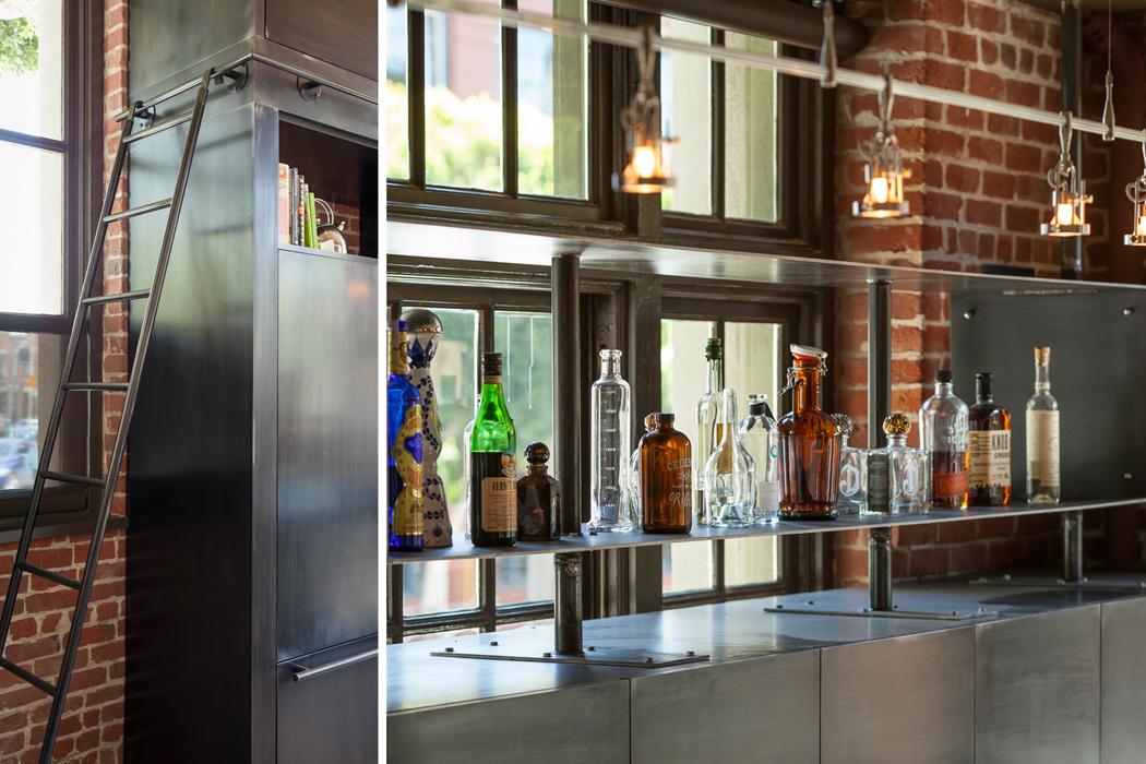 Loft industriel situ san francisco au design brut et for Accessoire deco cuisine