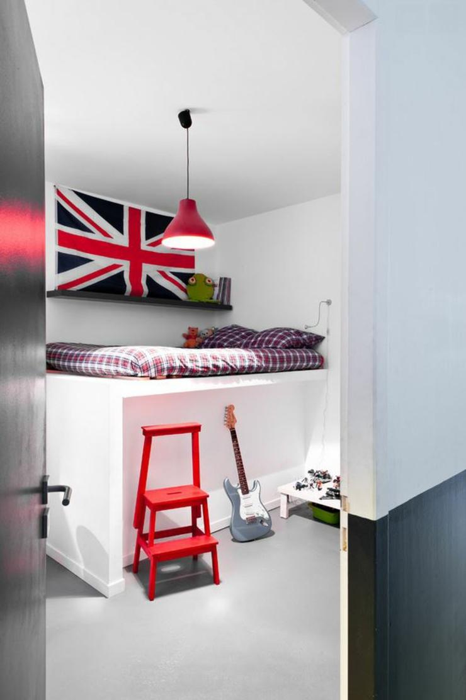 Decoration Chambre Ado Moderne : Loft industriel au design intérieur d inspiration à