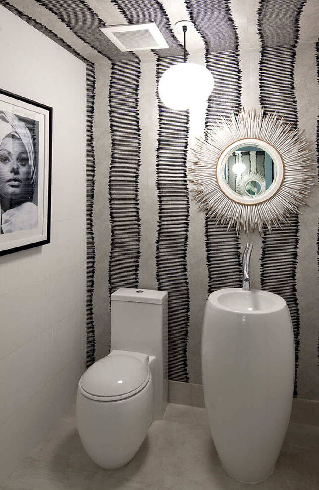 D co toilettes rustique for Decoration maison wc design