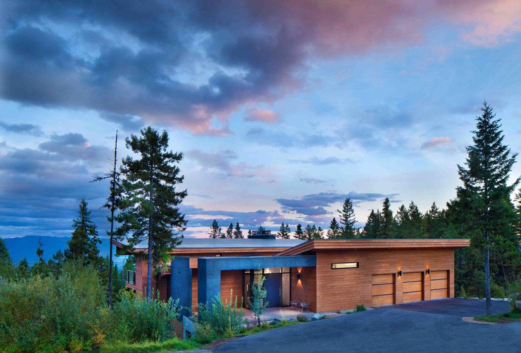 Moderne maison rustique l architecture et agencement cr atif au montana vivons maison - Demeure de charme dom architecture ...