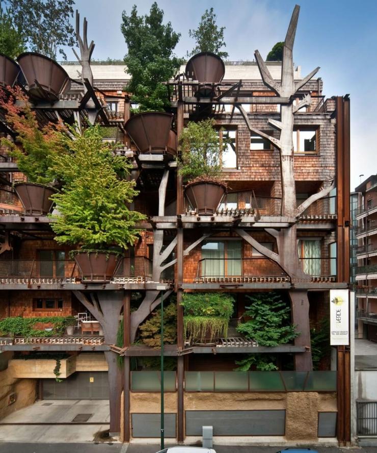 Appartement cologique dans un immeuble vert turin for Architecture ecologique