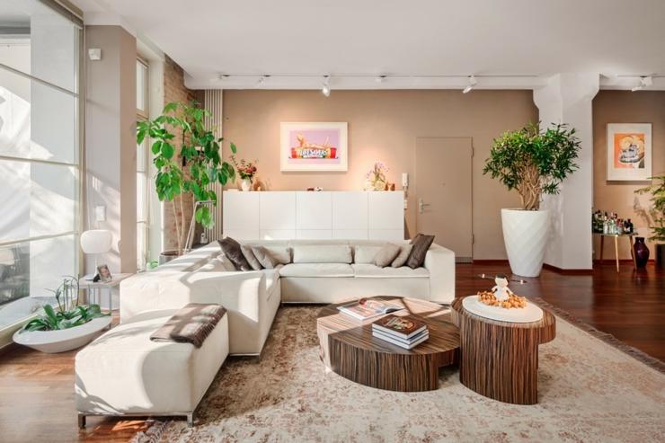 Loft design l int rieur l gant berlin vivons maison for Deco salon couleur chaude