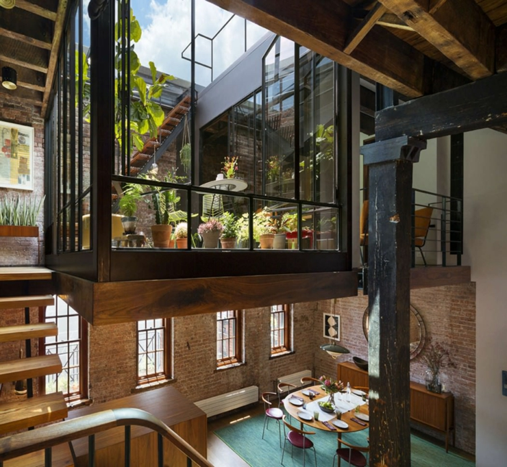 Beau loft industriel manhattan new york vivons maison for Patio arredamenti