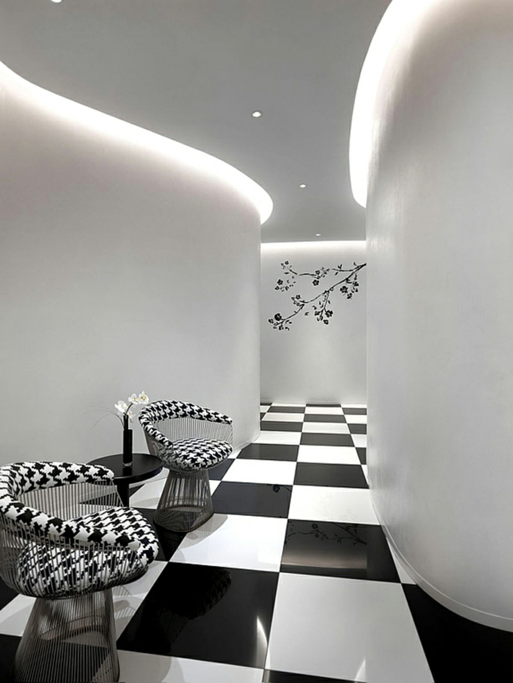 Unique maison contemporaine en noir et blanc singapour for Interieur et design