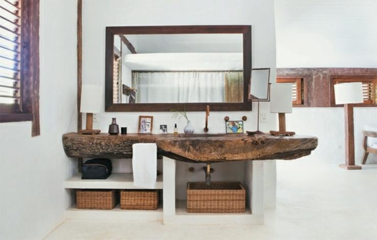 Maison de vacances au br sil l int rieur minimaliste for Salle bain rustique