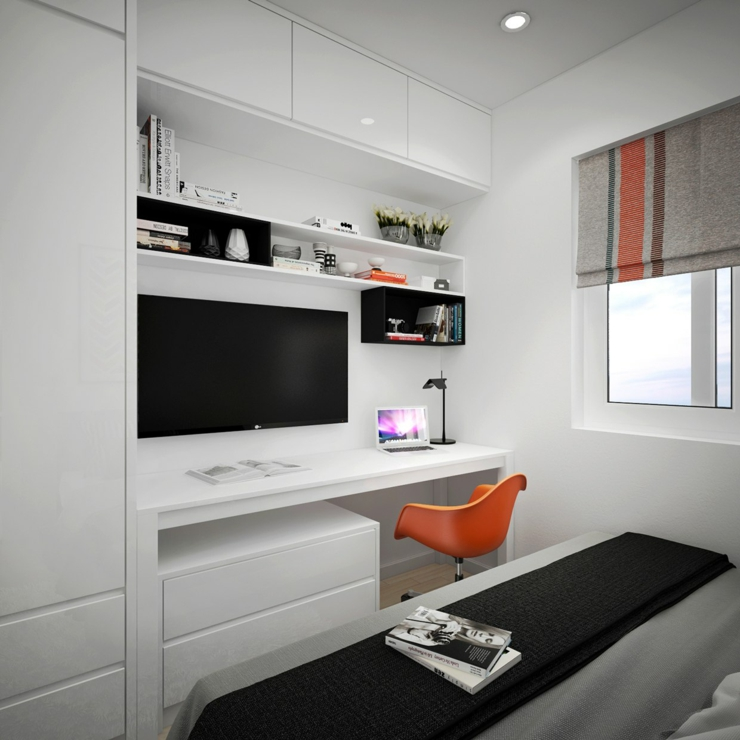 Appartement citadin meubl selon les principes du design for Bureau chambre moderne