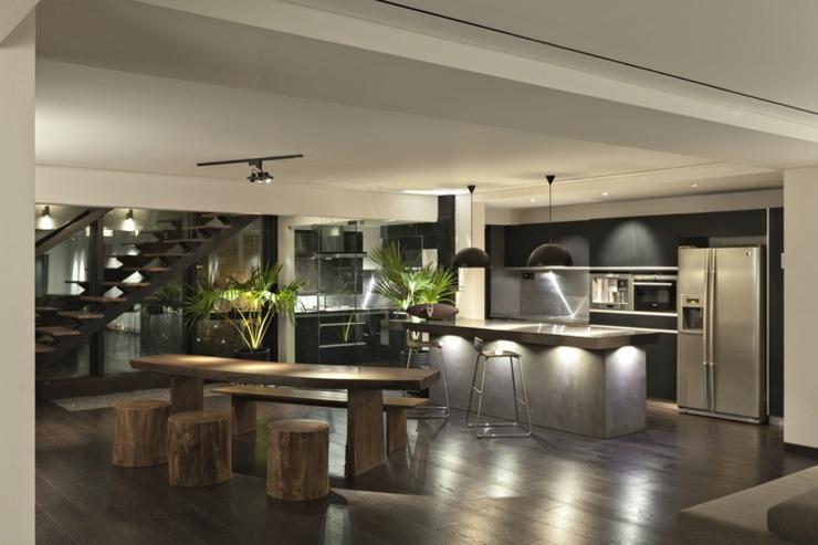appartement en duplex l ambiance minimaliste masculine vivons maison. Black Bedroom Furniture Sets. Home Design Ideas