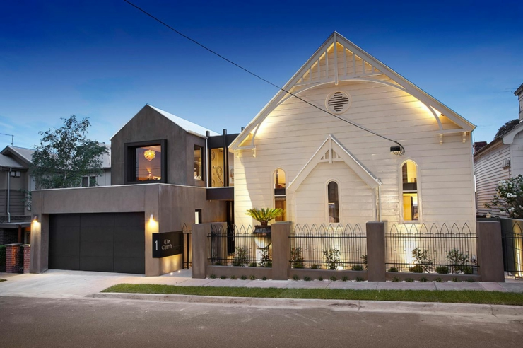 Une ancienne galise melbourne transform e en maison for Facade maison originale