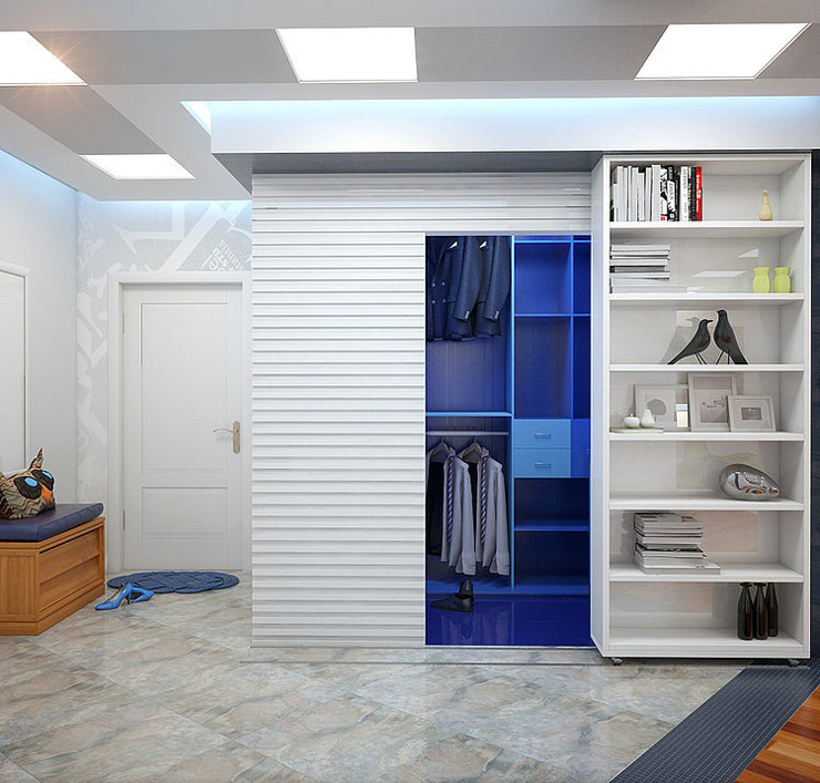 Ameublement design pour un logement de ville saint for Entree appartement design