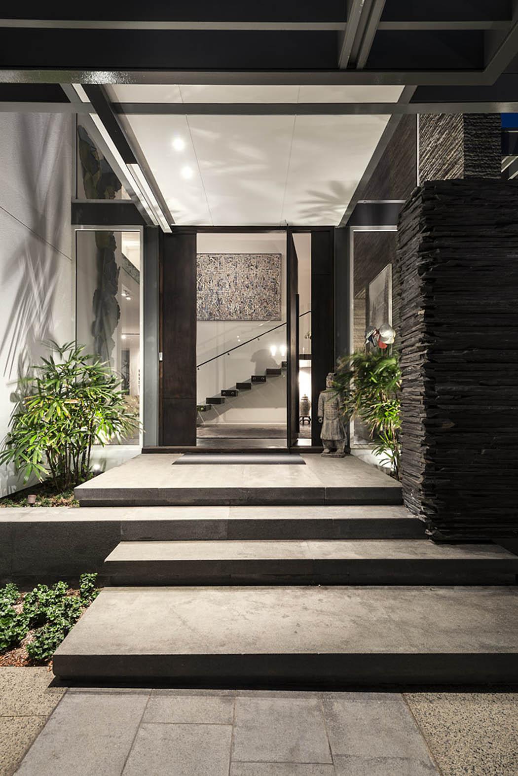 R sidence principale de ville l architecture for Decoration externe maison