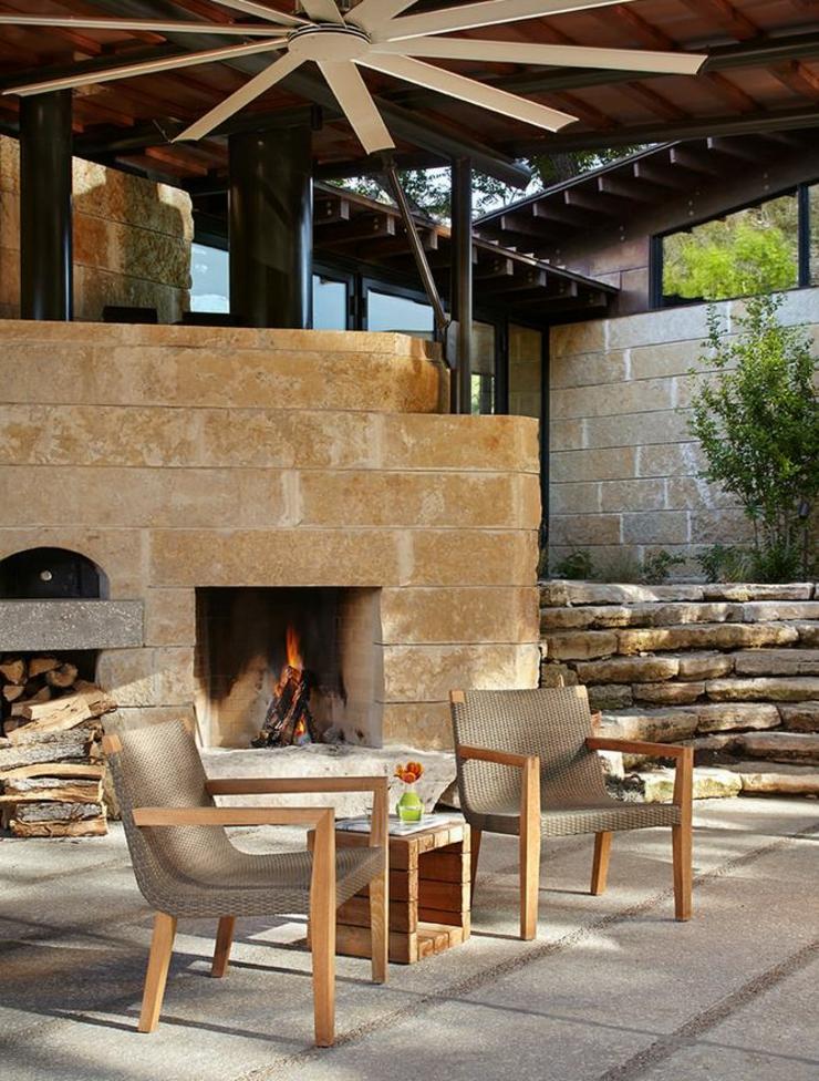 Beau ranch am ricain situ houston texas vivons maison - Ranch americain poet interiors houston ...
