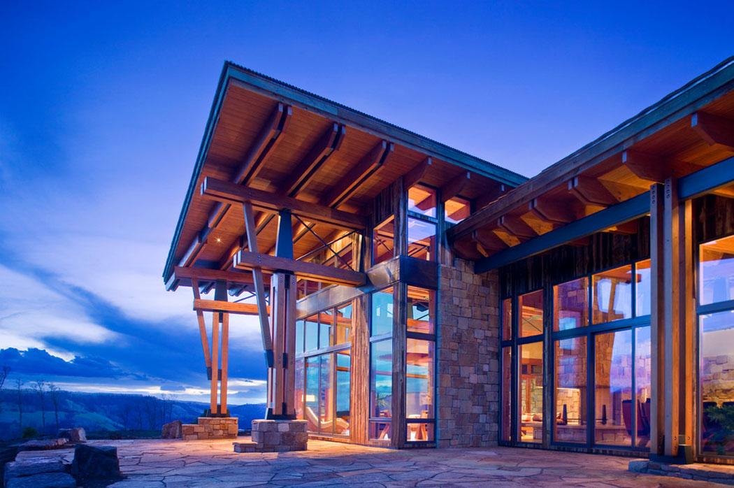 chalet de montagne l architecture moderne dans l tat de. Black Bedroom Furniture Sets. Home Design Ideas