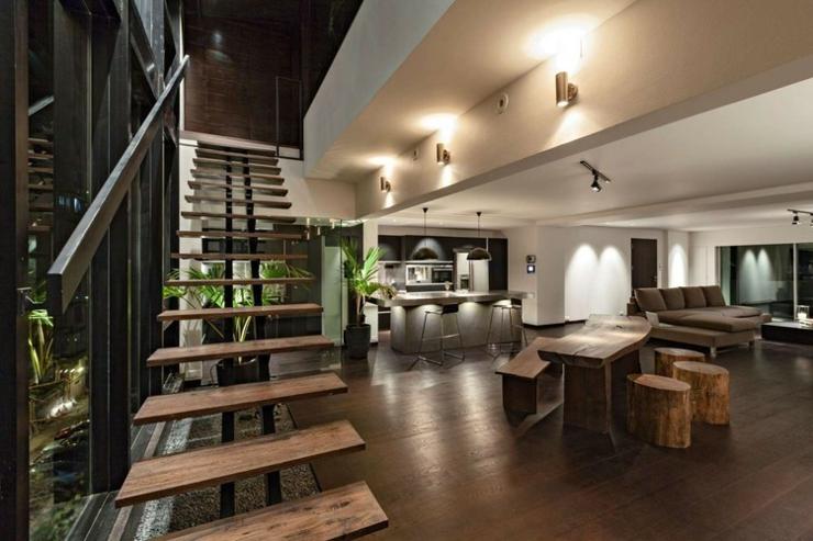Appartement en duplex l ambiance minimaliste masculine - Appartement luxe en californie horst architects ...