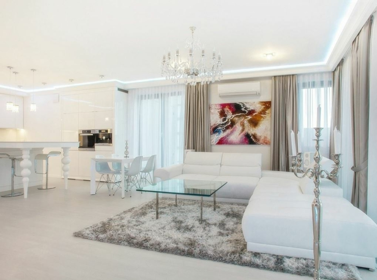 Appartement moderne au design pur en blanc varsovie vivons maison - Appartement decoration design glamour vuong ...