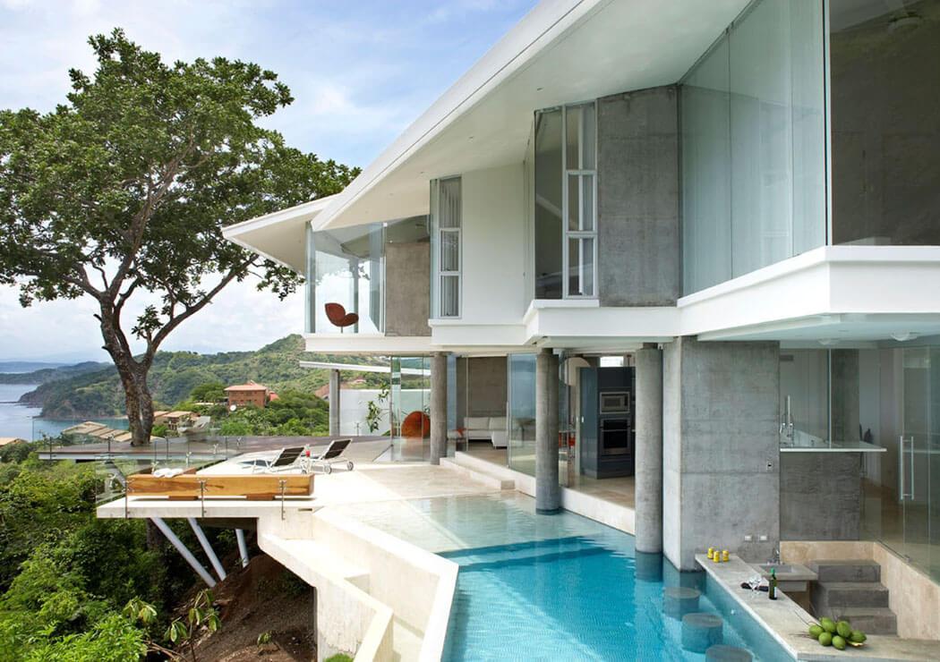 Architecture contemporaine et superbe vue sur la mer - Architecture contemporaine residence parks ...