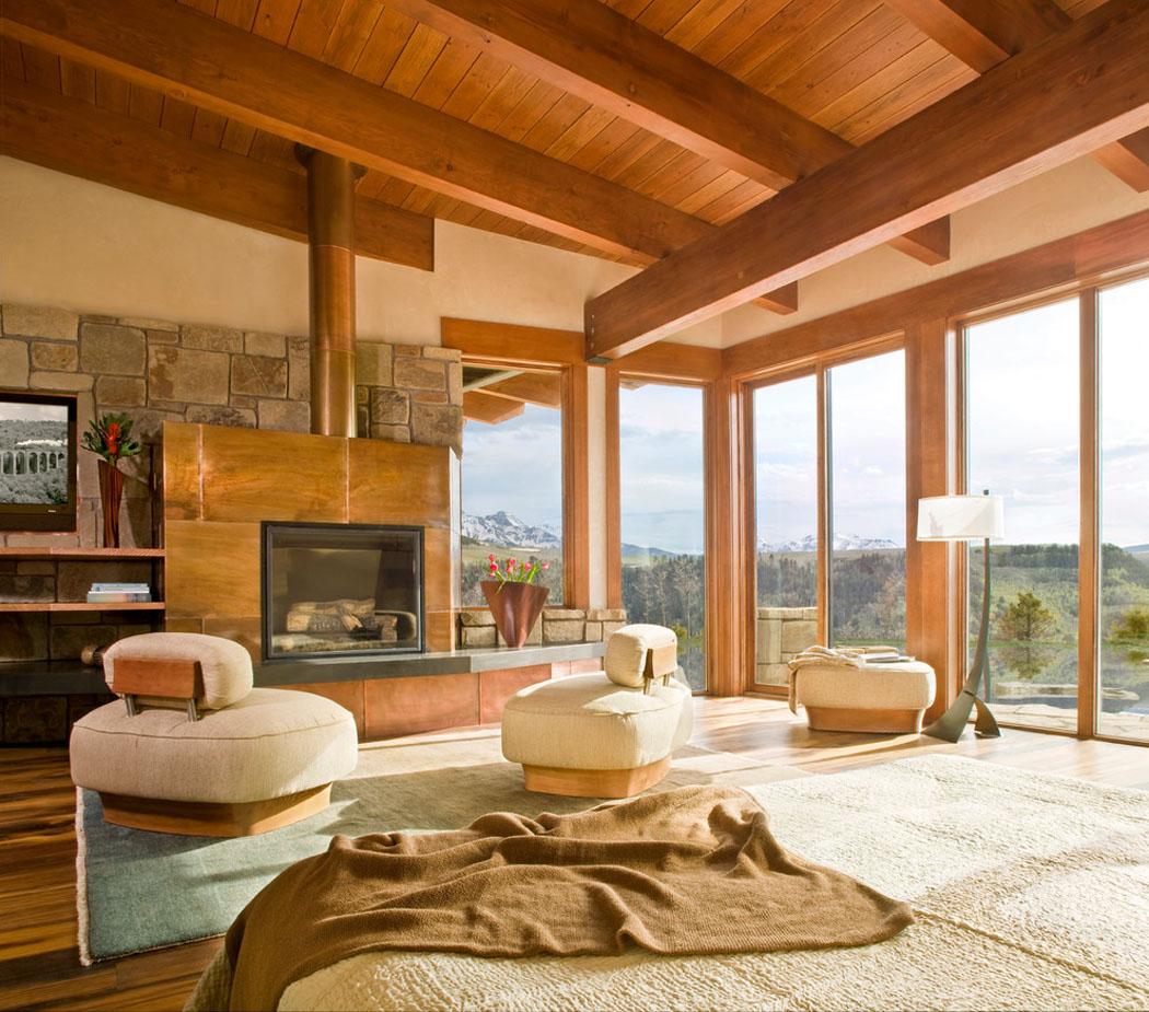chalet de montagne l architecture moderne dans l tat de colorado tats unis vivons maison. Black Bedroom Furniture Sets. Home Design Ideas