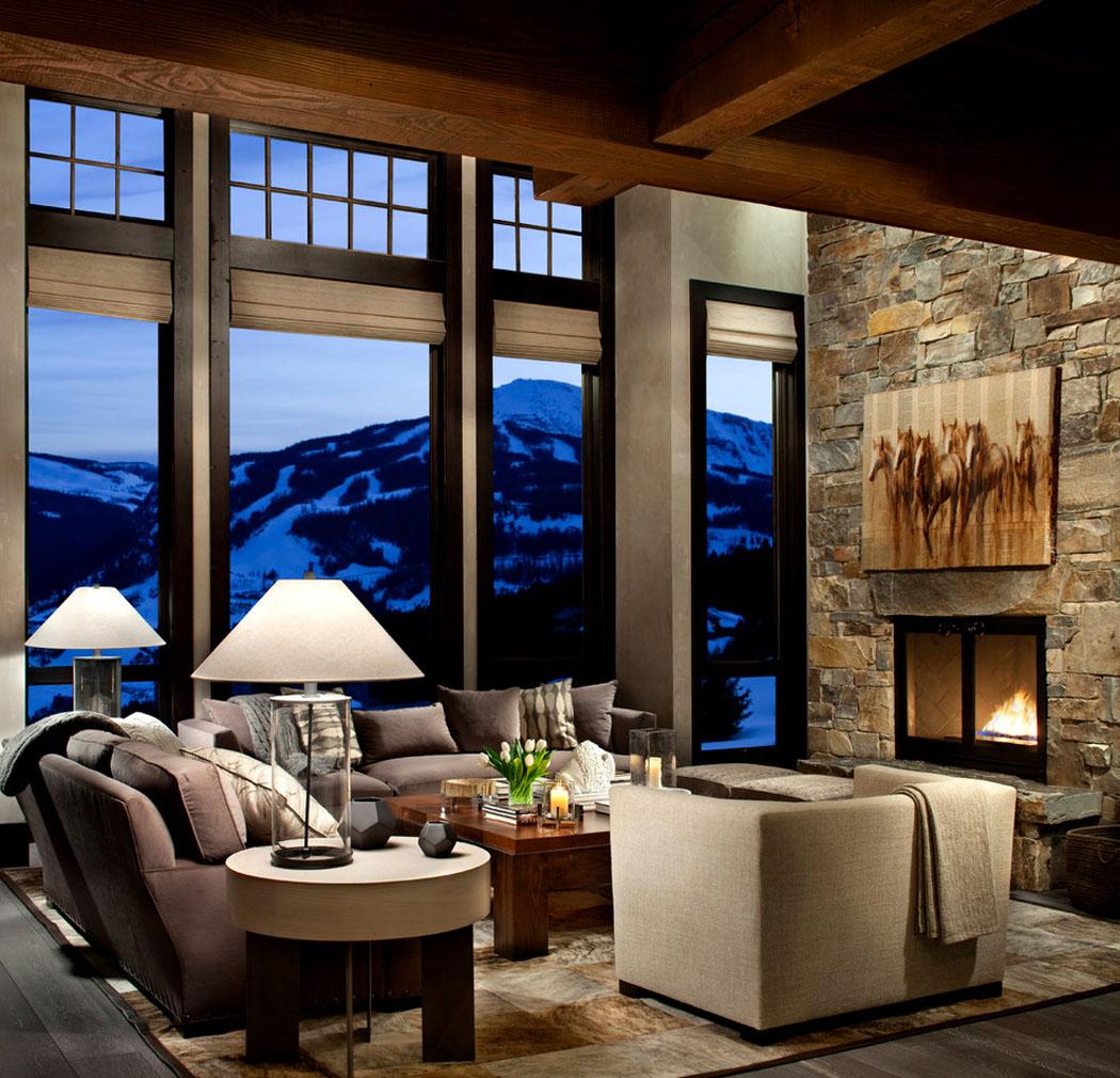 Chalet de luxe dans le montana offrant des vacances en montagne vraiment d paysantes vivons maison - Interieur chalet berg foto ...