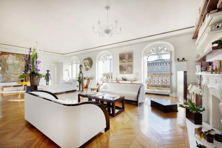 Immobilier de luxe avec vue sur la tour eiffel vivons maison - Appartement luxe paris avec design sophistique et elegant ...