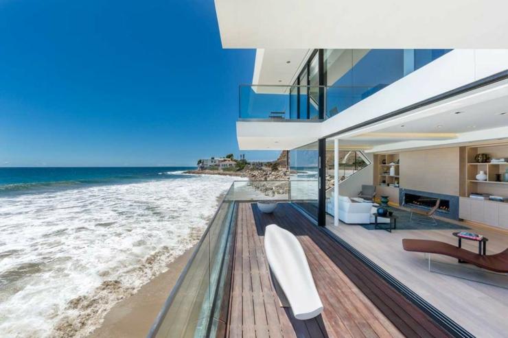 Maison d architecte de prestige malibu californie - La contemporaine residence de plage las palmeras ...