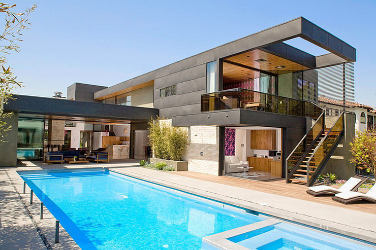 Superbe maison d architecte los angeles vivons maison for Casa para dos con piscina privada