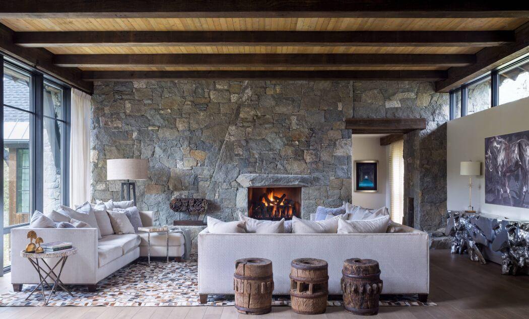 Chalet De Montagne L Int Rieur Rustique Luxueux Dans Le Colorado Vivons Maison