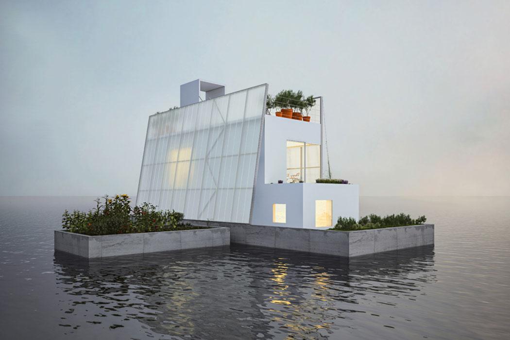 projet cr atif de maison cologique flottante et autosuffisante vivons maison. Black Bedroom Furniture Sets. Home Design Ideas