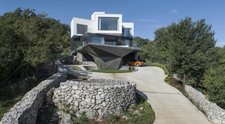 maison originale l architecture d cal e en croatie vivons maison. Black Bedroom Furniture Sets. Home Design Ideas