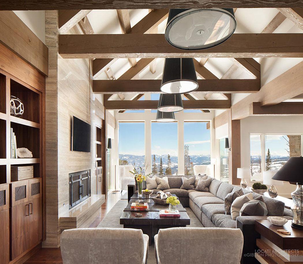 Belle r sidence de luxe montana avec de splendides vue for Residence luxe