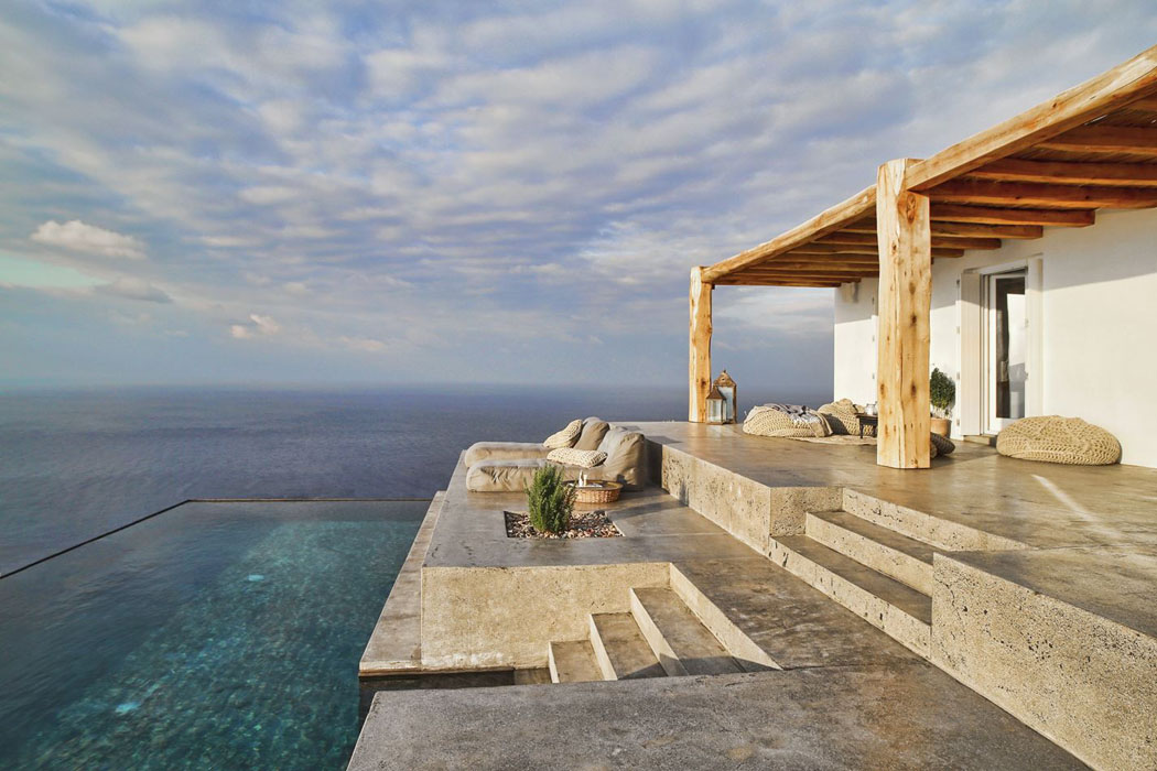 Villa de vacances en gr ce au design int rieur minimaliste - Maison rustique marina vella architecte ...