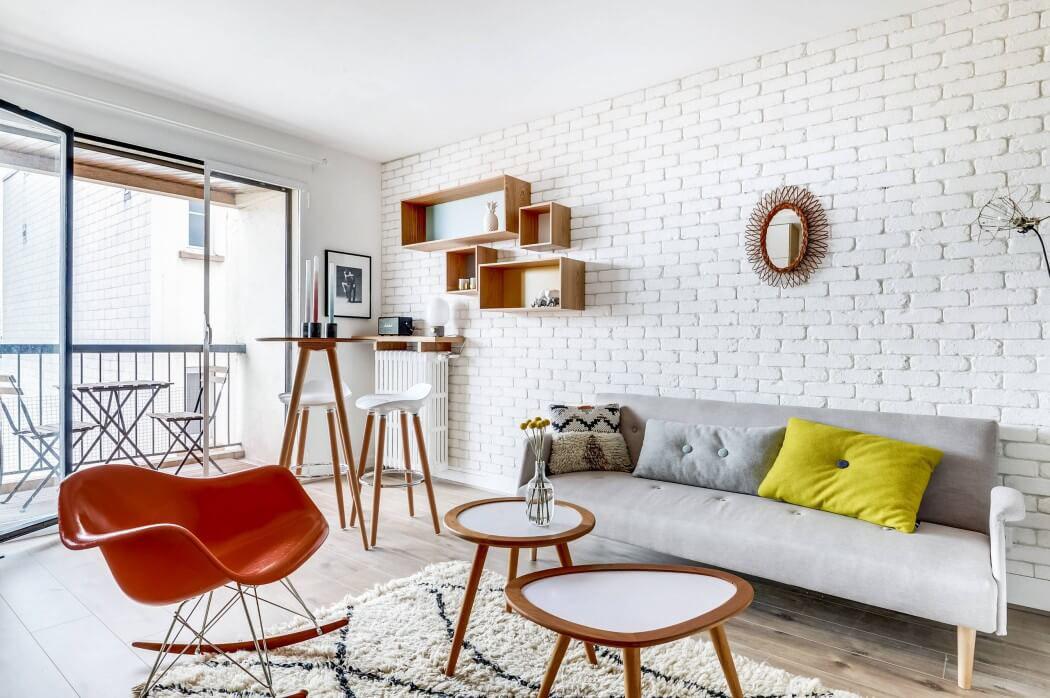 Petit appartement apr s travaux offre un cadre moderne et for Salon petit appartement