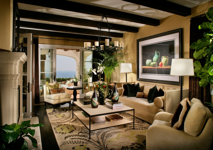 Tr s belle maison c ti re l int rieur rustique vivons maison for Interieur de luxe maison