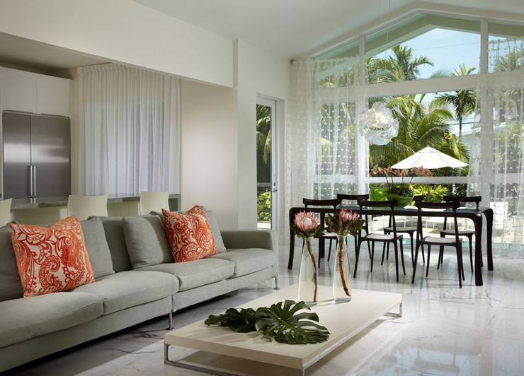 Villa de luxe au design clectique sur la c te en floride - Villa de luxe vacances miami j design ...